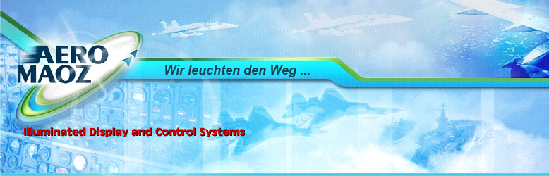 Aeromaoz - Displays, Bedienpanels und NVIS LED-Beleuchtung